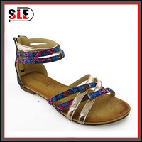 Foreign trade goods follow sandal high help package female new cross with color matching shoes bigger sizes and ladies' sandals