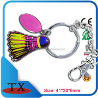 promotional giveaway colorful badminton club souvenirs keychain
