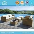 Juscu venta del manufactory de plástico sintético exterior muebles de ratán china con sofá de la conversación