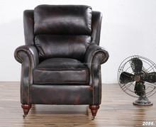 wood frame +foam+real leather+feather set o f sofa