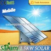 1500w mobile solar electricity generating system for home