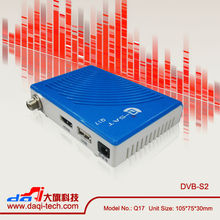 Hot selling Q-sat Q17 mini HD satellite decoders in Chile Market update azclass s1000