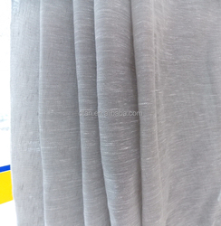 2014 wholesale polyester linen sheer curtain designs