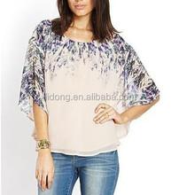 Shirt / Blouse Top Type and Women Gender Plus Size Blouses Chiffon