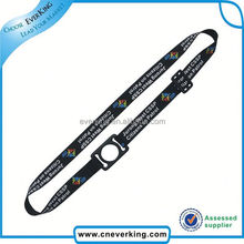 2015 Best selling black polyester lanyards for promotion
