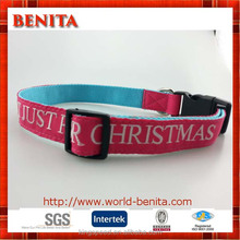 2016 embroider white logo personalised design dog collar