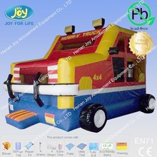 Inflatable Fire Truck Price, Fire Truck Inflatable Bounce House with Slide