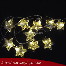 Glass solar led copper string light for holiday use