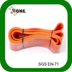 2014 hot sale AB0018 exercise rubber bands yellow power band