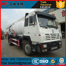 Best price Shacman vacuum sewage tanker truck for algeria friend