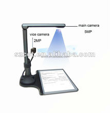 Popular in office 5MP CMOS A4 dual book scanner with OCR function P02-A4