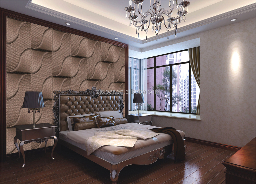 3d Design Tv Background Leather Wall Panel - Buy Leather ...