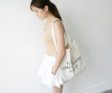 High quality heavyweight cotton canvas bag for young girls