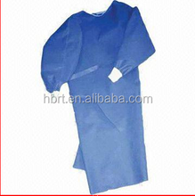 NON WOVEN GOWNS SPP+PE covered on sleeve and in front
