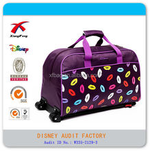 XF manufacture foldable cheap trolley luggage travel bags
