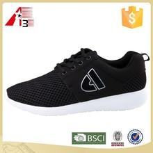 laterest design popular black flyknit upper running shoes