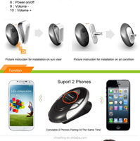 BT8110 Air Vent Bluetooth Handsfree Car Kit Speakerphone with LED Screen