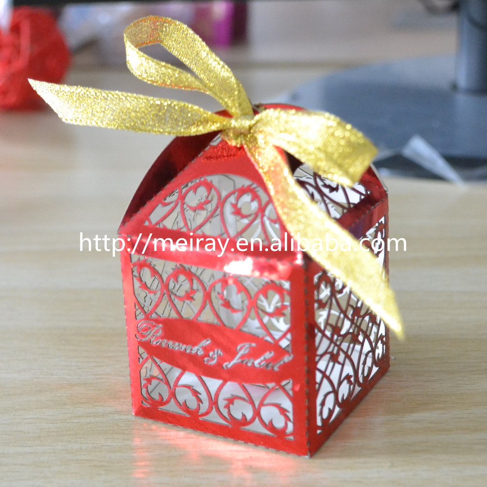 Laser Cut Wedding Favor Boxes Filigree Gold Favor Boxes Wedding ...