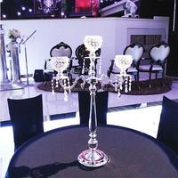 3 arm silver candelabra , wedding decorative candelabra for wholesale