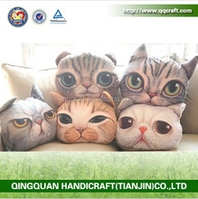 BSCI QQ Petfacepillow Factory cat & dog face wholesale decorative pillows