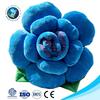 Best valentine gift blue rose plush flower shaped pillow fashion soft stuffed plush rose cushion
