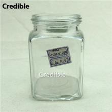 250ML French fresh square glass beverage bottle
