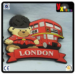 custom 2D or 3D soft pvc fridge magnet/online ladys handbag