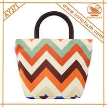 Multi-functional Chevron Diaper Bag Tote Bag Fashion Lunch Bag For Women