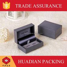 luxury cufflink box with brand logo