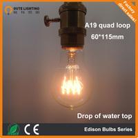 Antique lighting A19 tungsten filament decorative carbon filament bulb china supplier