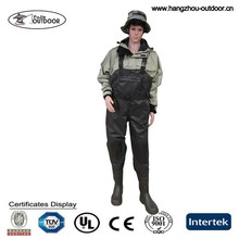 Stocking Taslon borracha PVC Wader da pesca