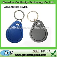 Plastic customized priting RFID key fob from experience gold supplier with High quality