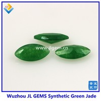 AAA MS shape cabochon glass stone malay jade color