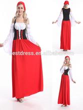 señoras jovencita oktoberfest de cerveza alemana de mucama de disfraces de halloween para mujer medieval