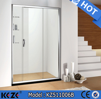 two fixed panel double roller sliding shower room