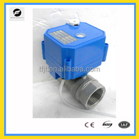 """220V Removable Head 2-way Normal Closed Motorized Valve fmini 2 way motorized operated water ball valve 1/2"""" 3/4"""" 1"""" brass stain"""