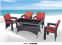 waterproof dubai outdoor dining furniture black rattan chairs with table garden leisure furniture