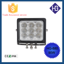Auto accessories IP68 spot/flood 90W super slim led rechargeable work light SUV Boat ATV Jeep 4x4WD