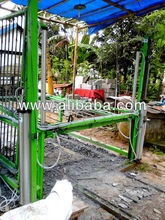 Semi-automated foamed concrete multi band saw cutting machine
