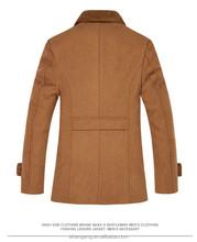 Beige thick men's wool coat elegant winter coat for men