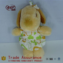 Cute adorable baby toys dressing stuffed colourful dog toy plush toy puppy