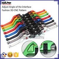 BJ-LS-010 Special Design Custom Wholesale 3D CNC Pattern Adjustable Short Aluminum Motorcycle Brake Lever
