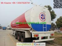 3x12T BPW axle 46000L Aluminum Alloy Petroleum / Oil Tank Semi Trailer +86 13597828741