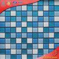 H2032 Brillo polvo azulejo de mosaico de cristal decorativo para la cocina