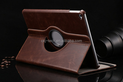 New arrival 360 rotation luxury leather case for ipad pro, sleep feature for ipad pro leather case with rotating funtion