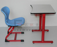 Popular Classroom Furniture Wood Top and Metal Frame Single School Classroom Desk and Chair
