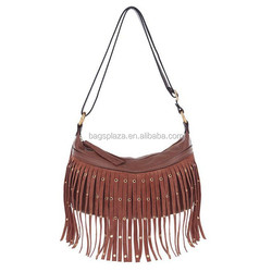 PU Leather Women Vintage Shoulder Bag Handbag Messenger Bags With Tassel