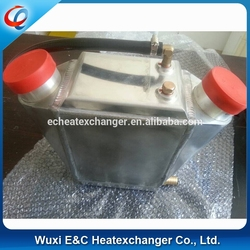 aluminum gas to water intercooler in different size