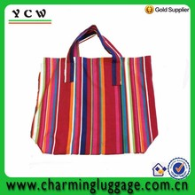 Handmade custom oem beach cotton canvas tote bag