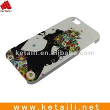 Beautiful Girl Pattern Plastic Mobile Phone Case For iphone 5